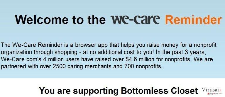We-care Reminder ekrano nuotrauka