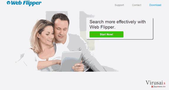 Web Flipper reklamos ekrano nuotrauka