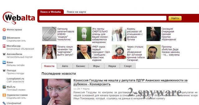 Webalta.ru ekrano nuotrauka