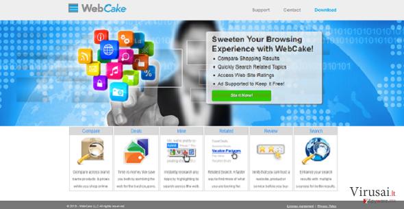WebCake ekrano nuotrauka