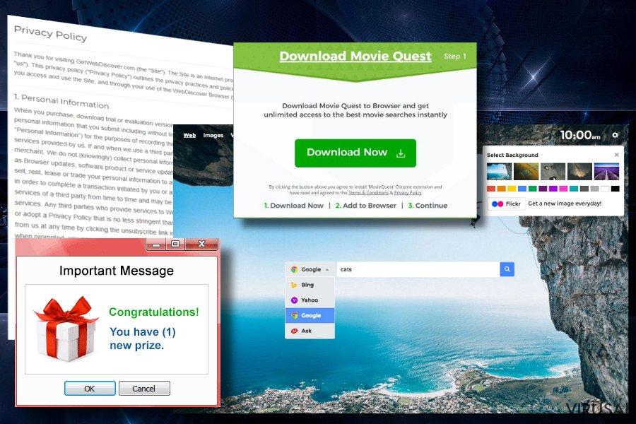 Webdiscover virusas