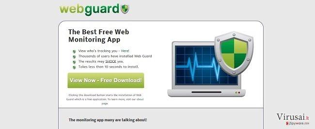 Web Guard virusas ekrano nuotrauka