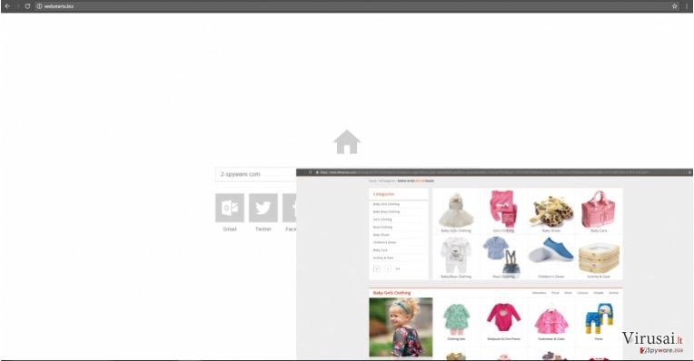 Webstarts.biz virusas yra nepatikima paieškos sistema