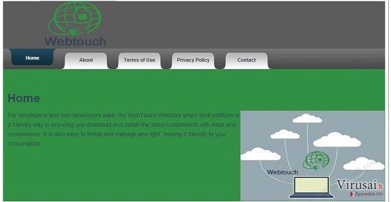 Webtouch virusas ekrano nuotrauka