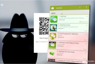 WeChat virusas