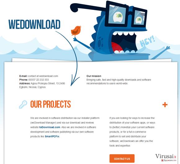 WeDownload Manager virusas ekrano nuotrauka