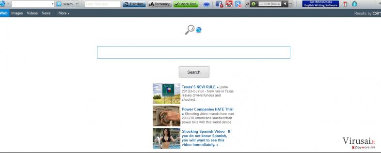 Whitesmoke virus ekrano nuotrauka