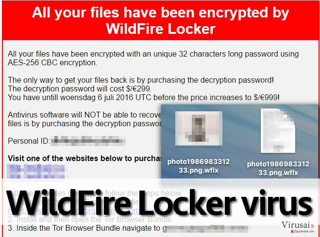 WildFire Locker virus