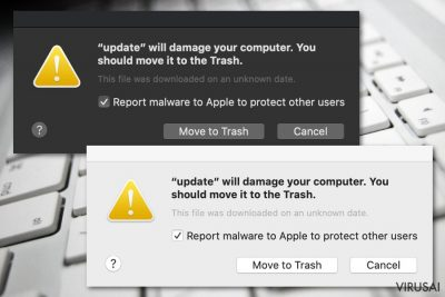 Will damage your computer. You should move it to the Trash pranešimas