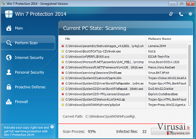 XP Protection 2014 ekrano nuotrauka