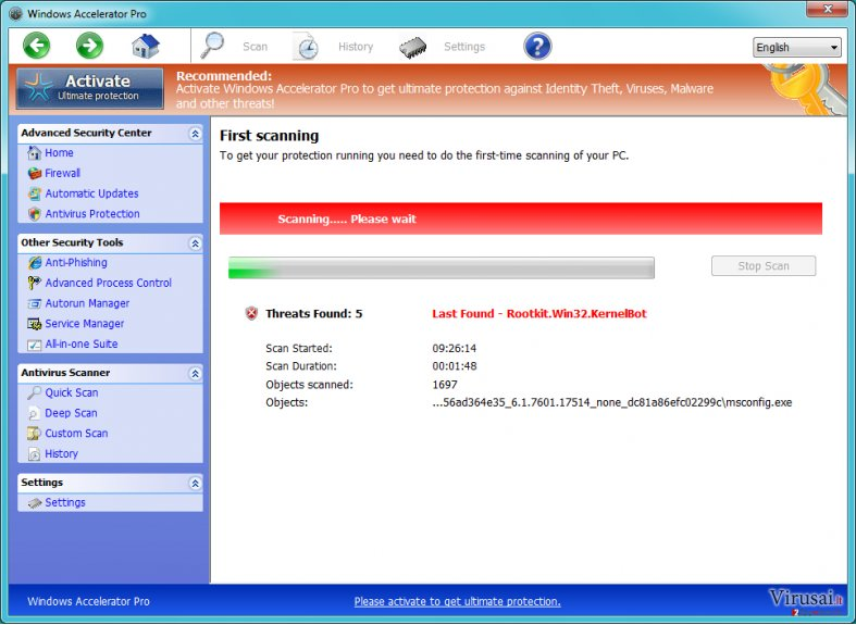 Windows Accelerator Pro ekrano nuotrauka