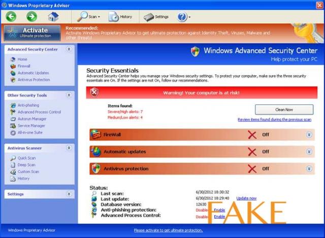 Windows Interactive Security ekrano nuotrauka