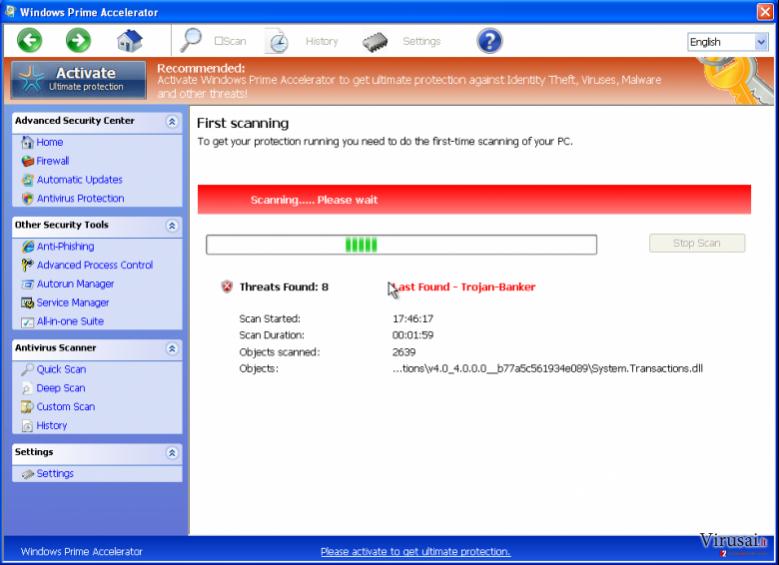 Windows Prime Accelerator ekrano nuotrauka