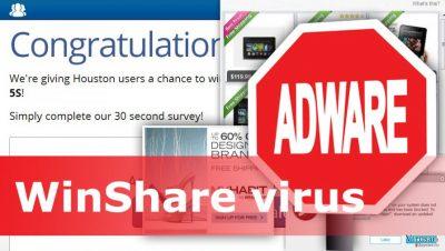 WinShare virusas siunčia nepageidaujamas reklamas