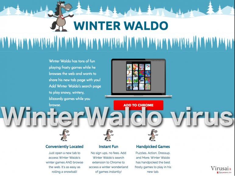WinterWaldo.com virusas priskiriamas reklaminių programų kategorijai