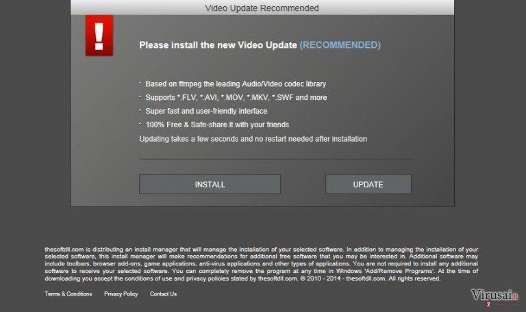 WinUpdateVideos.com reklamos ekrano nuotrauka