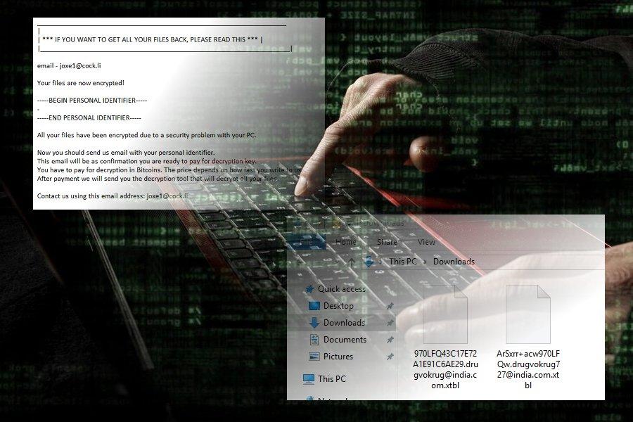 .xtbl virusas ekrano nuotrauka