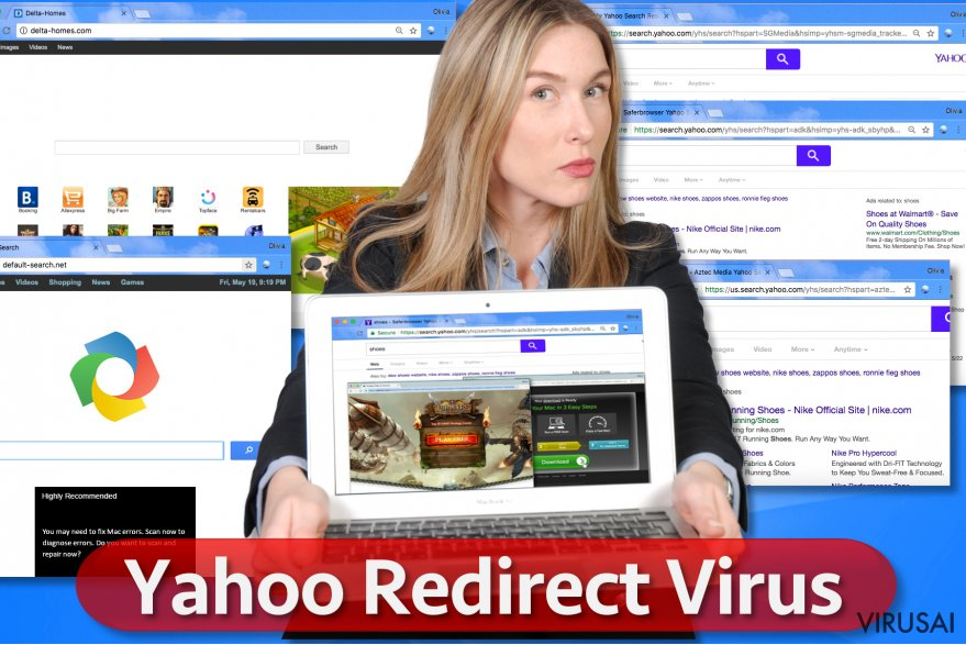 Yahoo Redirect virusas
