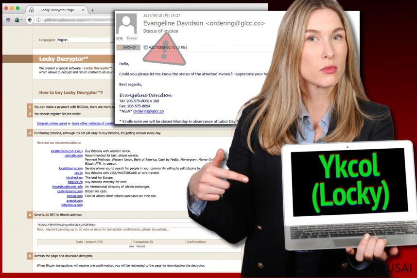 Ykcol viruso iliustracija