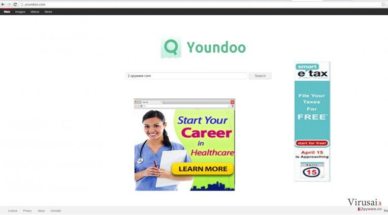Youndoo.com viruso nuotrauka