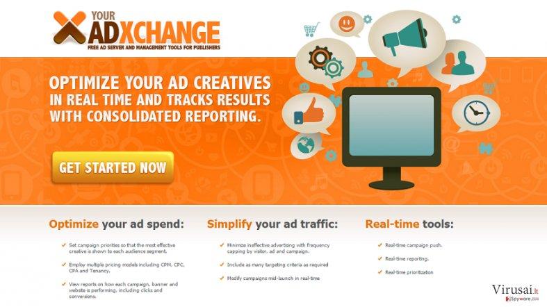 YourAdExchange.com reklamos ekrano nuotrauka