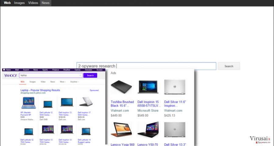 YourSites123.com virusas ekrano nuotrauka