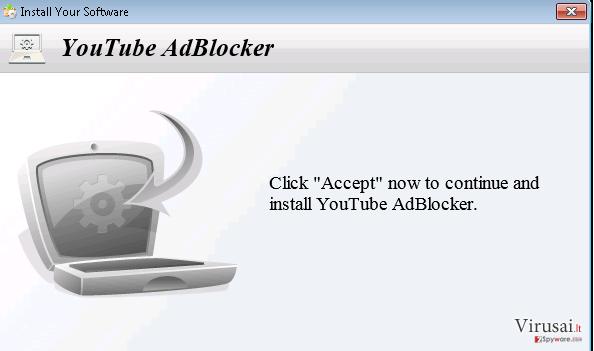 YoutubeAdBlocker ekrano nuotrauka