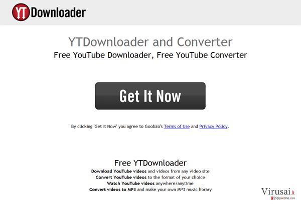 YTDownloader ekrano nuotrauka