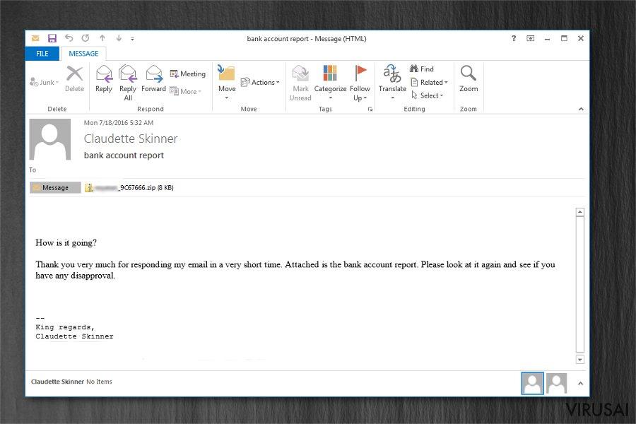 Zepto virusas ekrano nuotrauka