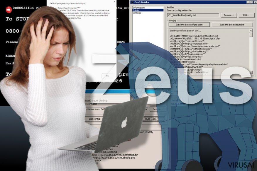 Zeus viruso pavyzdys