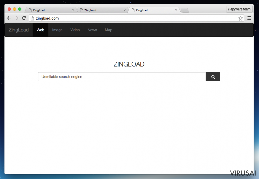 Zingload.com viruso pavyzdys