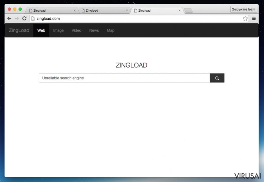 Zingload.com viruso pavyzdys