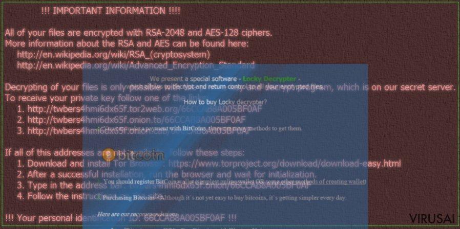 Zzzzz virusas yra nauja Locky versija