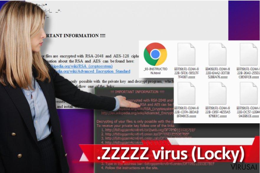 Zzzzz virusas ekrano nuotrauka
